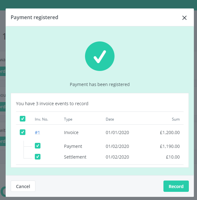 register payment